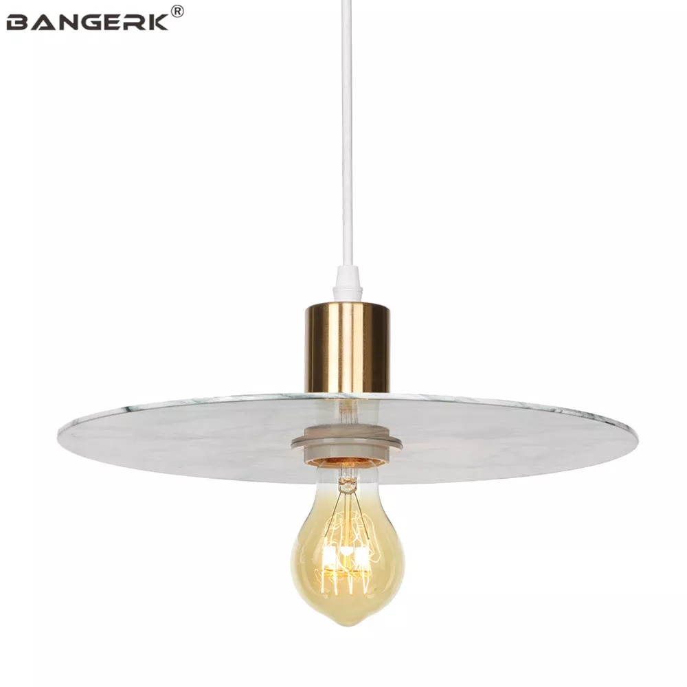 Creative שיש תליון אורות לופט נורדי עיצוב עיצוב מודרני LED תליית מנורת אוכל חדר שינה בית תאורת Luminaire