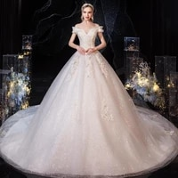 other wedding dresses vestido de noiva 2021 gryffon sexy v neck off the shoulder dress with train luxury lace up ball gown