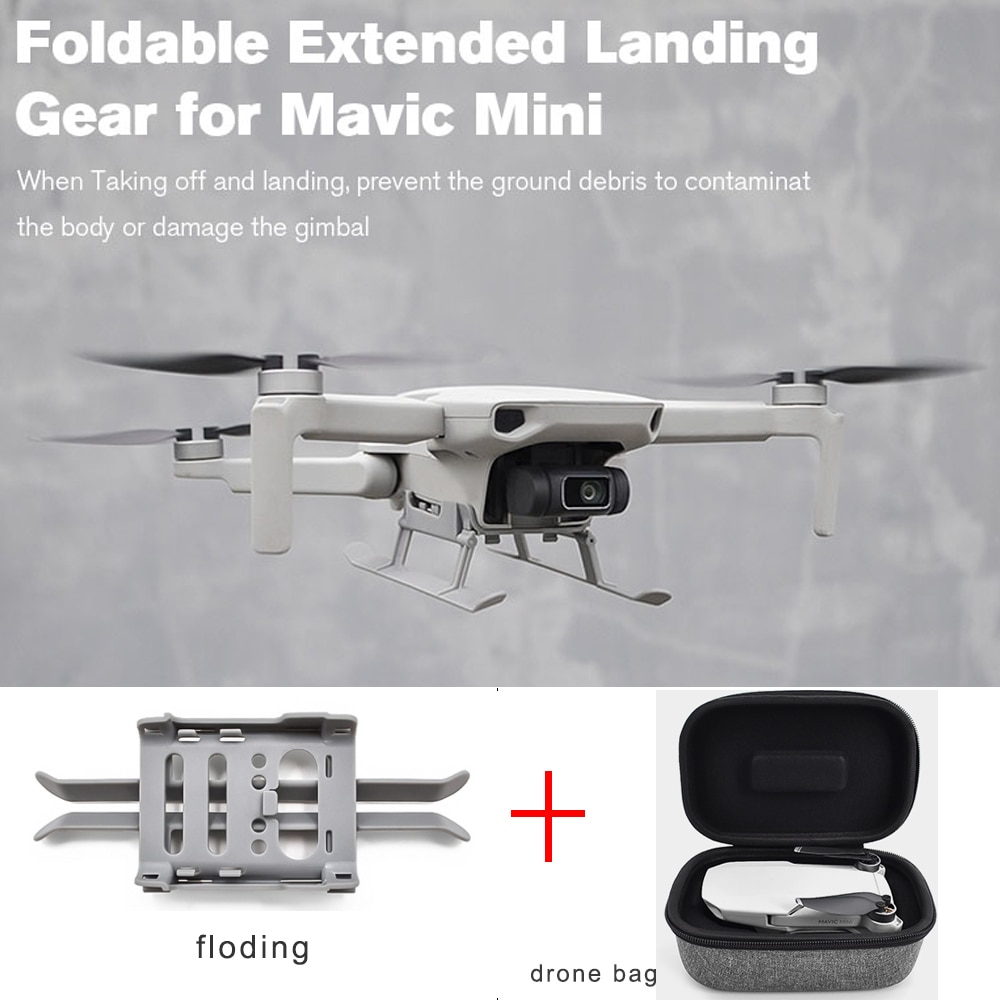 DJi Mavic mini accessories heightened tripod /landing gear /extension bracket drone body storage bag