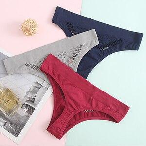 2pcs Women Sexy Hollow Panties Seamless Thong Lingerie Underwear Cotton Tanga Breath G-string Comfort Plus Size Underpants XL