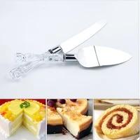 2pcs cake shovel set stainless steel bread pizza knife dessert pie fondant divider cutter spatula server baking tool for wedding
