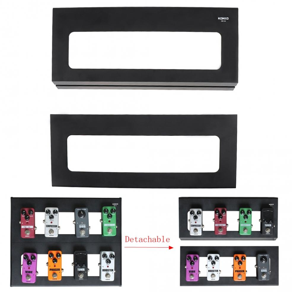 37 x 30cm High Quality Durable Portable Detachable Guitar Pedal Board Setup Style DIY Guitar Effect Pedalboard with Bag enlarge