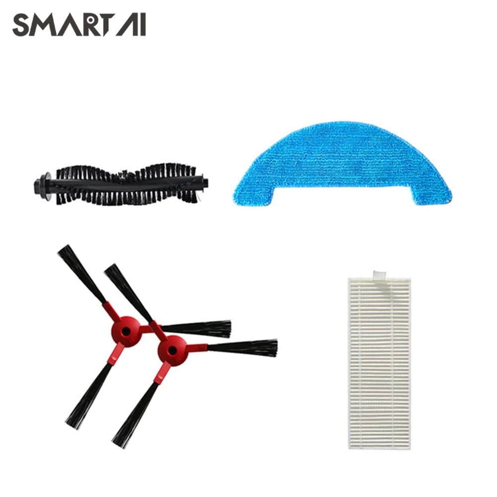 360 C50 Robot Vacuum Cleaner C50-Water Tank Filter Element-Vacuum Brush-Filter-Mop C50 Robot Vacuum Cleaner Accessory Kit