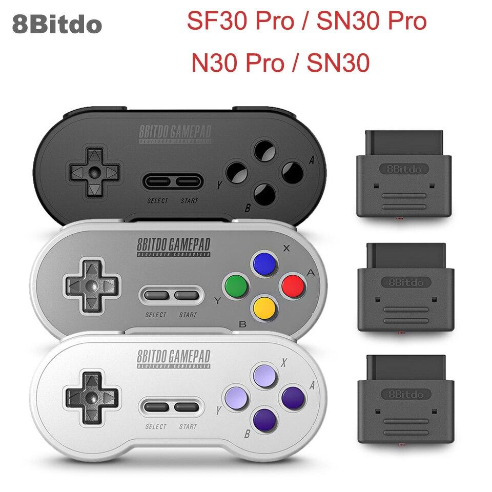 Controlador Bluetooth inalámbrico 8Bitdo SF30 Pro/SN30 Pro/N30 Pro 2/SN30 doble Joystick clásico para nintend interruptor ventanas, etc.