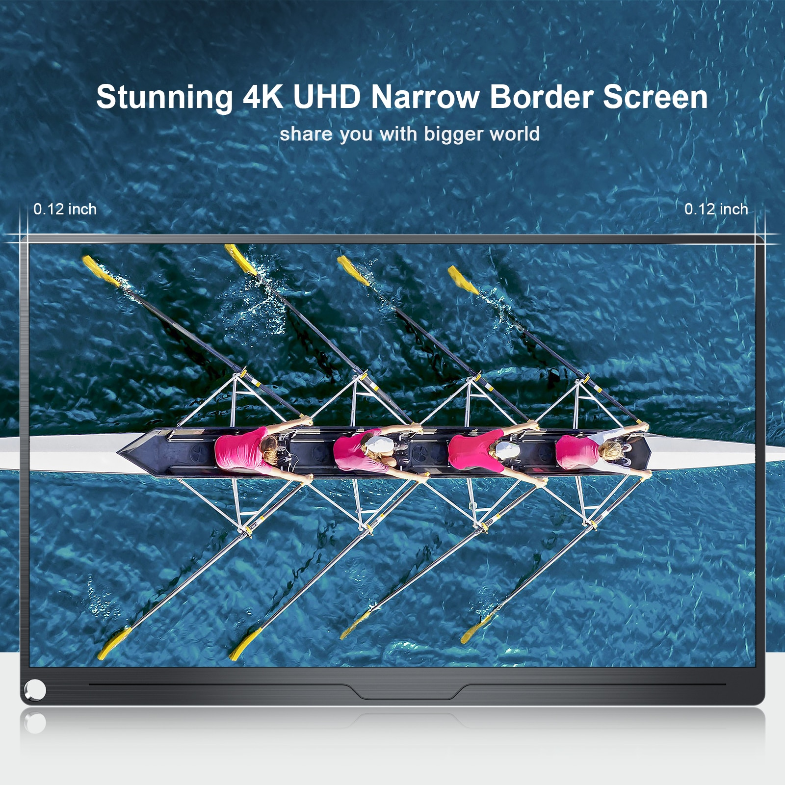 UPERFECT-17.3 Inch 4K Portable Monitor,  UHD Screen, Works with USB C, Second Screen for Samsung DEX, Huawei