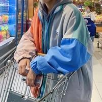 korean fashion clothes men jacket streetwear hooded casual men coat winter thin blends chaquetas hombre mens clothing df60jk