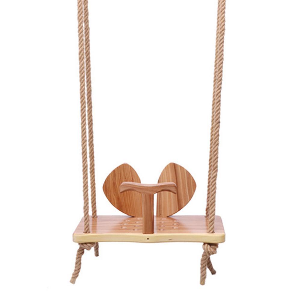 قابل للتعديل خشبية سوينغ خشب متين الأذن سوينغ السلس رواية الأطفال في الهواء الطلق أرجوحة داخلية أجهزة لياقة بدنية ألعاب ترفيهية