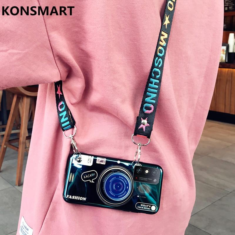 Чехол KONSMART Honor X10 MAX 5G, ретро 3D камера, чехол для телефона Huawei Honor X10 MAX, милый силиконовый мягкий чехол на заднюю панель с ремешком