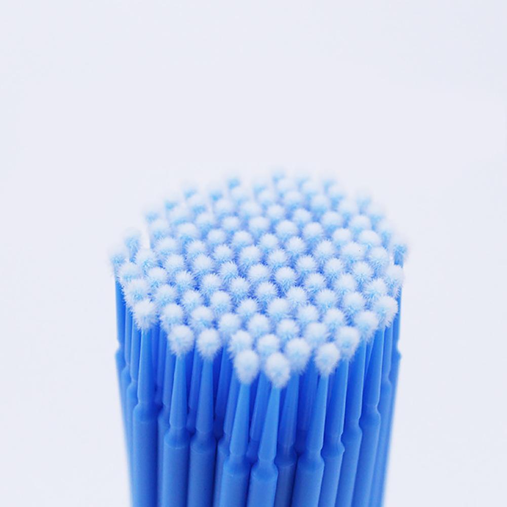 100Pcs Einweg Micro Wimpern Verlängerung Applikator Mascara Pinsel Stick Tupfer Durable Tragbare Einfach zu Bedienen Sanitär Kunststoff