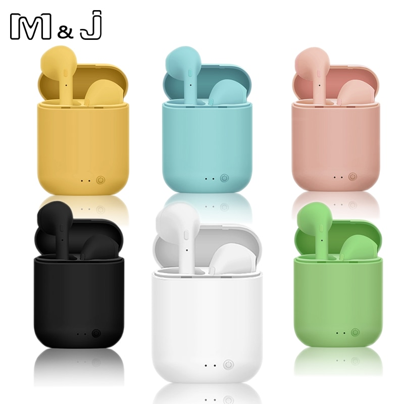 M&J Tws i7 Mini 2 Wireless Headphones Bluetooth 5.0 Earphone Air Earbuds Handsfree Headset with Charging Box For iPhone Xiaomi ubit s9100 touch control mini twins earbuds tws earphone waterproof bluetooth headset handsfree with charging box for smartphone