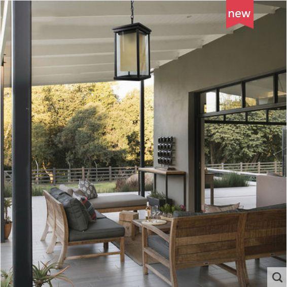 European outdoor chandelier square chandelier waterproof courtyard villa community garden balcony aisle corridor lights enlarge