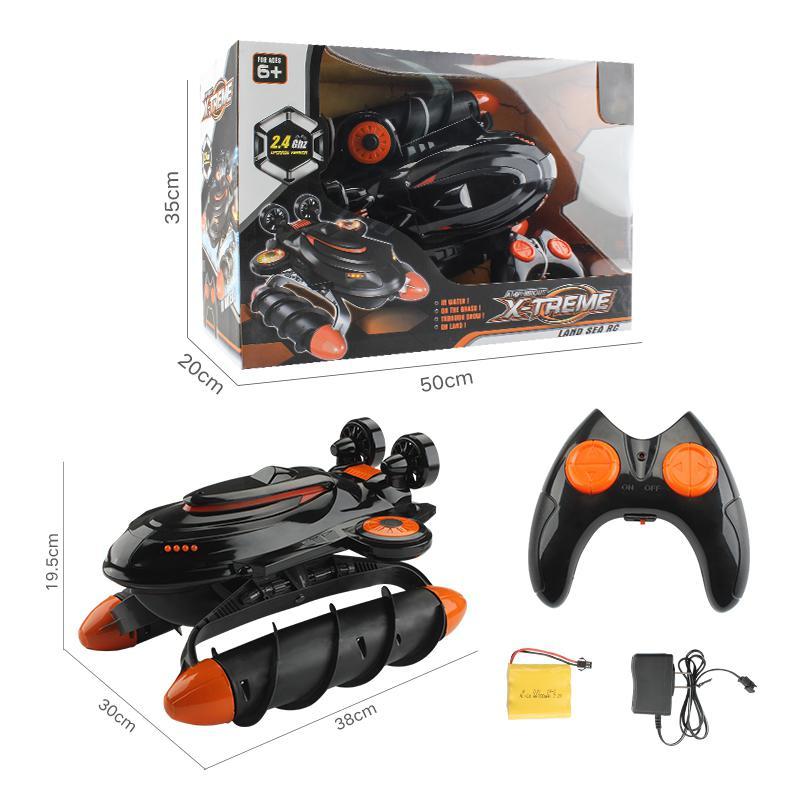 Control remoto aerodeslizador anfibio 2,4G impermeable coche niño juguete coche de Control remoto