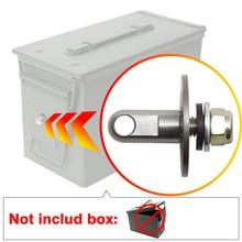 Sin caja, Bolt 50 Cal caja de municiones cerradura de arma de acero munición caja de seguridad Kit de Hardware ejército militar caja bloqueable 40mm Bala para pistola