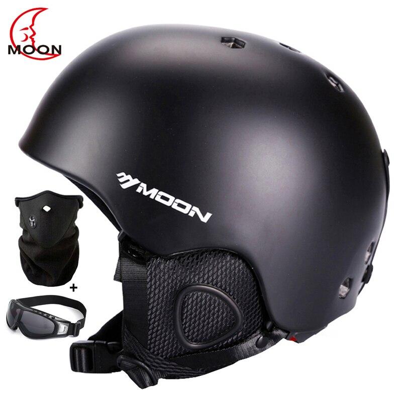 Certificação do ce da lua capacete de esqui ultraleve capacete de esqui esportes radicais skate/snowboard capacete pc + eps tamanho 52-64cm