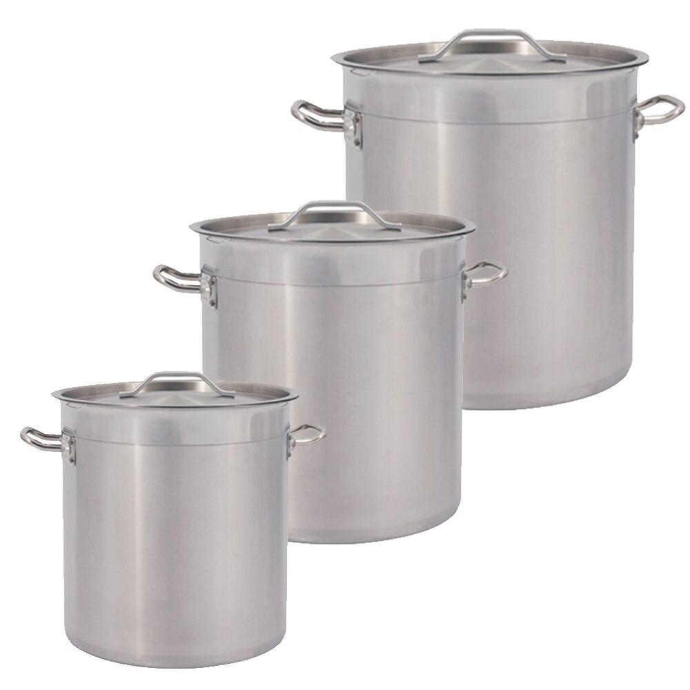 25-115l balde de sopa de aço inoxidável comercial com tampa pote estoque grande capacidade cozinha restaurante barril panelas cozinhar