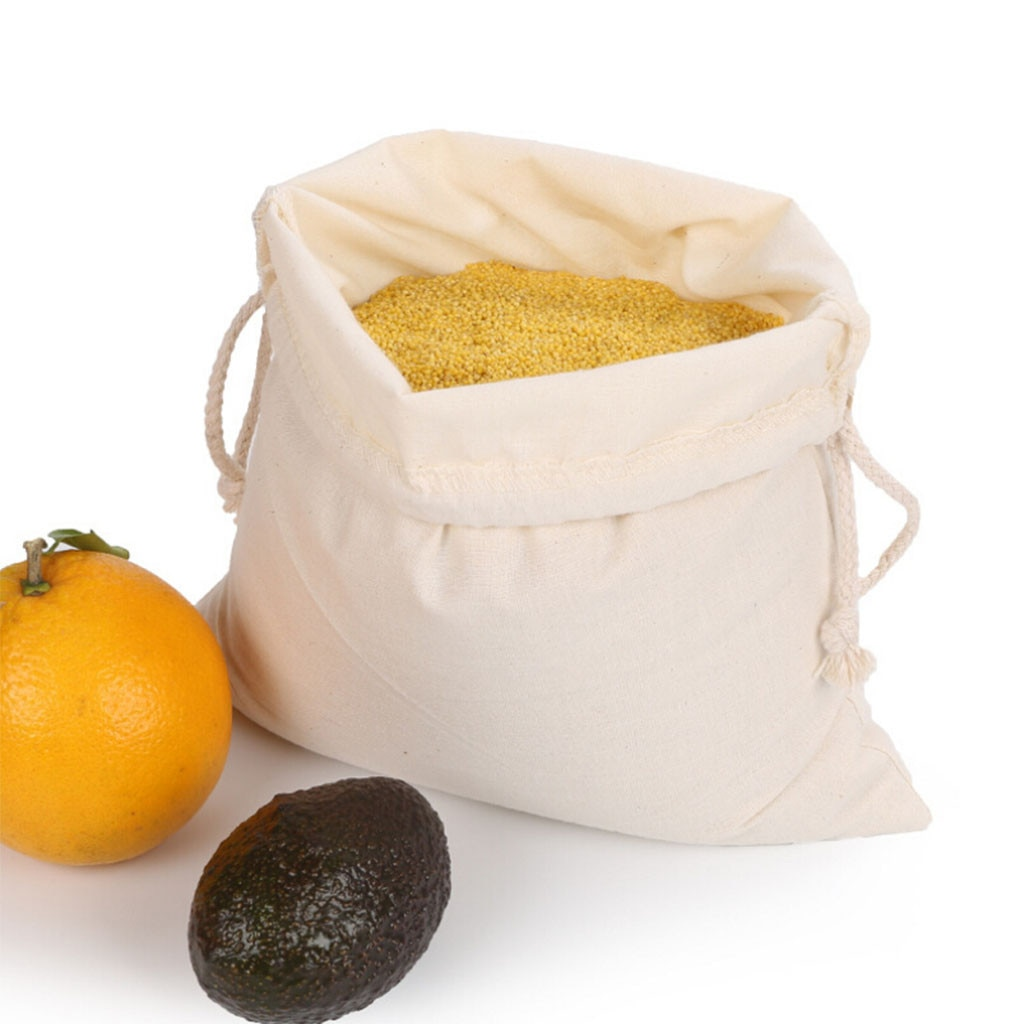 Bolsas para verduras reutilizables, bolsa de algodón con cordón ajustable, bolsa de compra de supermercado, bolsa para pan de frutas, organizador de almacenamiento de alimentos de cocina, 20 #