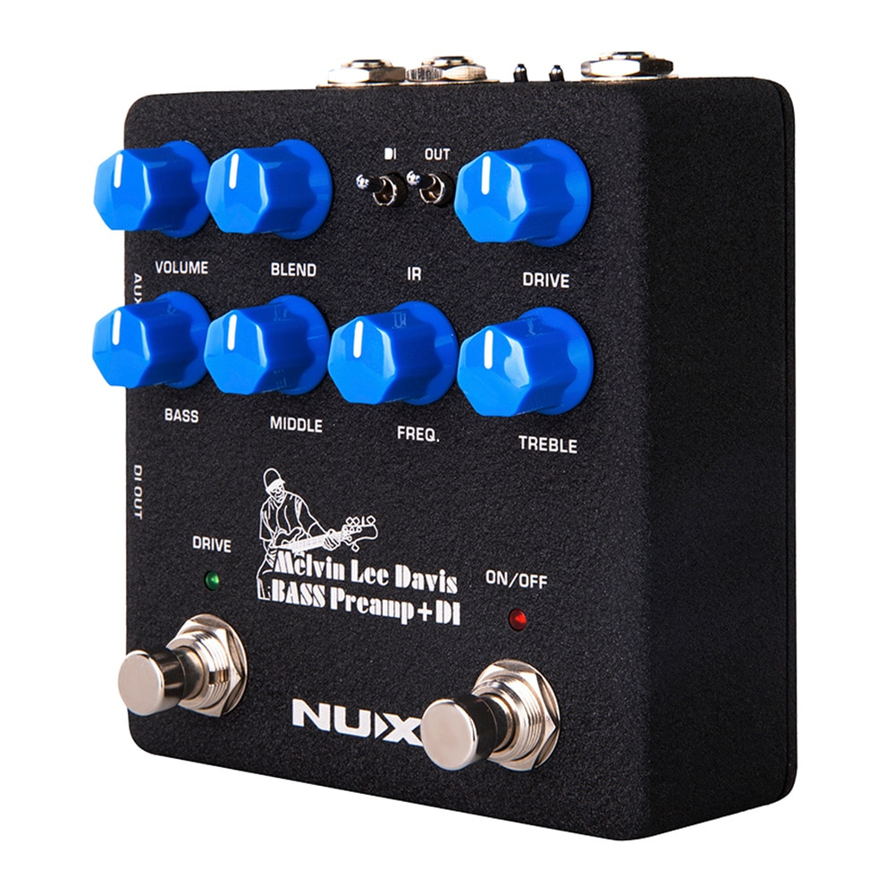 NUX MLD Signature Bass Preamp DI Guitar Pedal Dual Switch 3-band EQ Speaker Cabinet Noise Reduction 2 in 1 Effect Guitar Parts enlarge