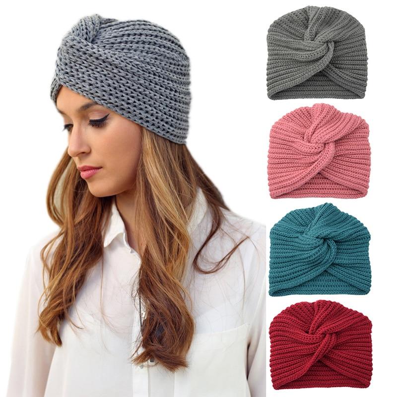 Женская трикотажная шапка-тюрбан в мусульманском стиле