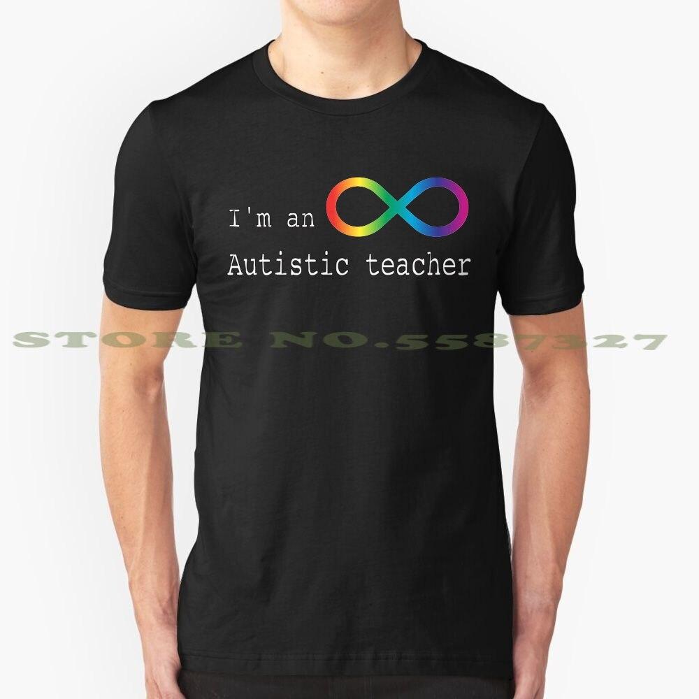 Camiseta Vintage de moda para profesor de autismo, camisetas Autistic Autist autismo espectro Asd orgullo aceptación positividad discapacidad