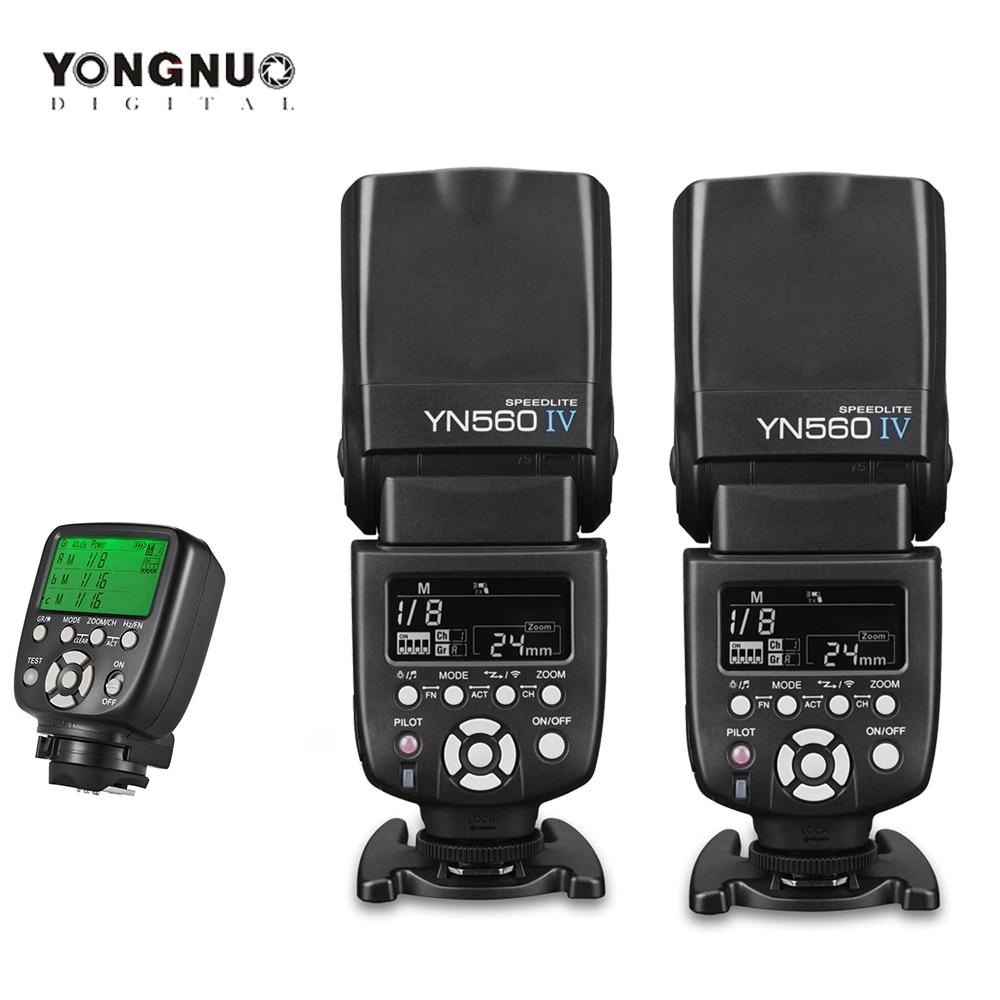 YONGNUO YN560 IV YN-560 IV 560IV 2.4G اللاسلكية فلاش Speedlite مع راديو ماستر وضع لكانون 6D 7D 60D 70D نيكون