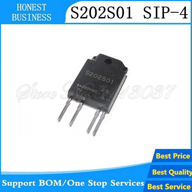 5 unids/lote S202S01F S202S01 de SSR 240VAC 8A TRIAC 4-SIP