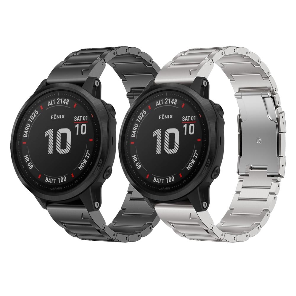 Correa de reloj para Garmin Fenix 6 Fenix 6 Pro Fenix 5 Fenix 5 plus, correa de aleación de titanio, 22mm, para fenix 6