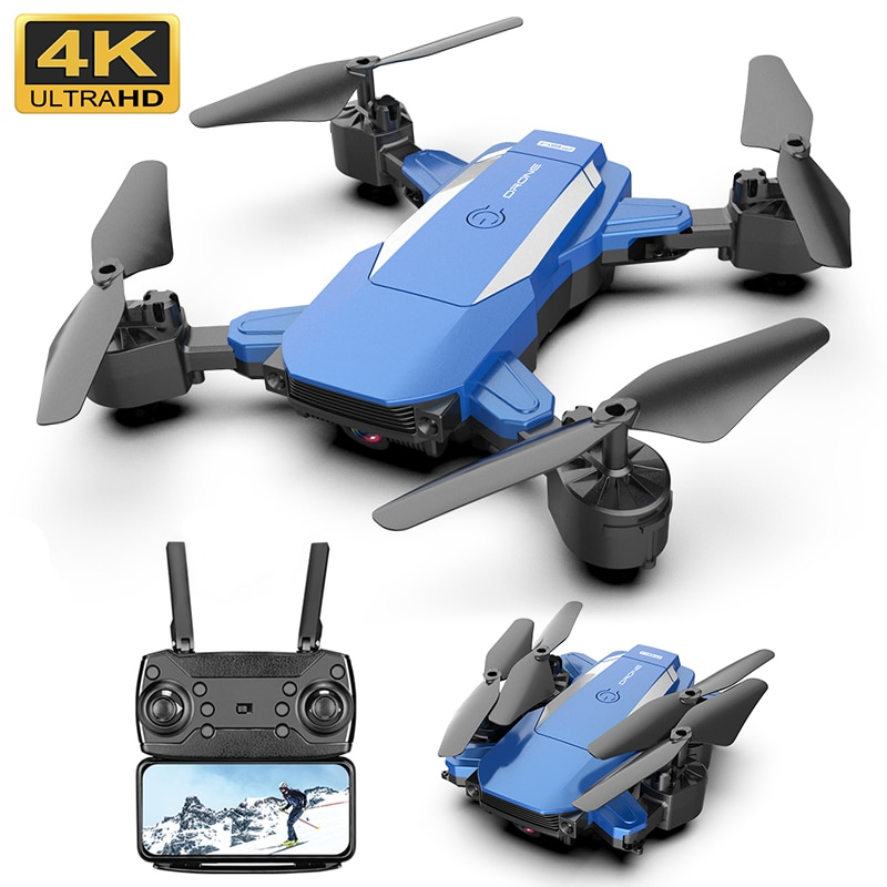 f6 drone 4k 1080p hd wifi quadcopter servo camera remote control adjustable angle drone camera dron reserve height rc helicopter F84 RC Drone With 4K 1080P HD Camera WIFI FPV Remote Control Helicopter Blue Black Folding Quadcopter For Children Gift Toy Dron