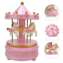Jolie boîte à musique carrousel Merry-Go-Round, décoration de cadeau danniversaire