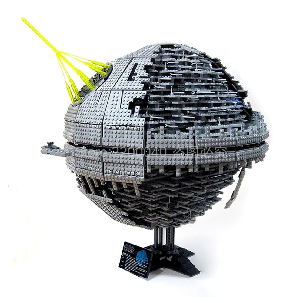 En Stock 05026 3441 Uds Serie de Star Wars la estrella de la muerte II Modelo de bloques de construcción ladrillos juguetes para niños 10143