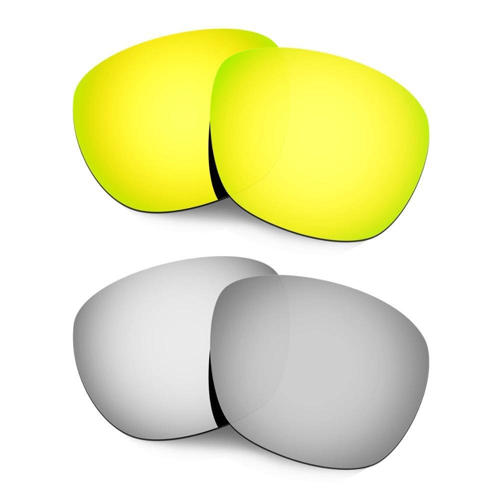 HKUCO para gafas de sol Enduro lentes polarizadas de repuesto 2 pares de oro y plata