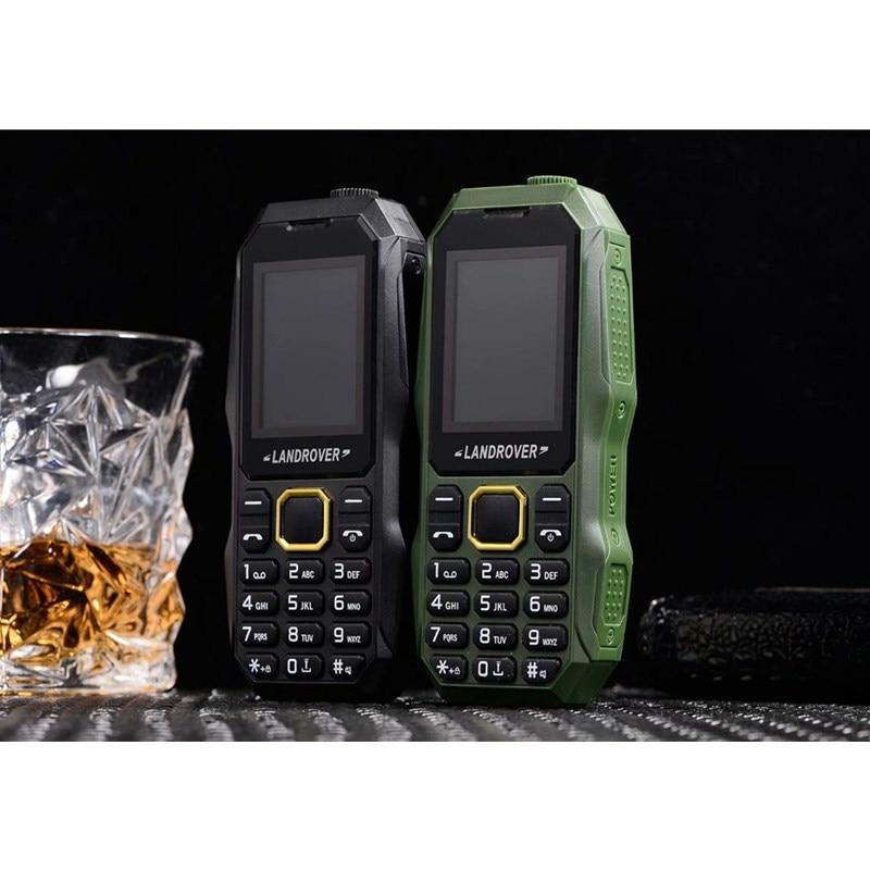 LR W2025 Push Button Cell Phones 1.8 inch Dual Sim MP3 FM Radio FlashLight Bluetooth Shockproof Dust