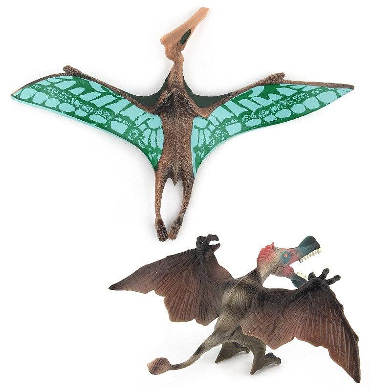 Juguetes de dinosaurio para chico s jurassic dinosaurio mundo Tiranosaurio Rex Pterosaur modelo de juguete animal simulado para regalo de chico
