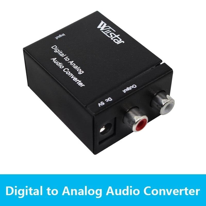 Wiistar-Adaptador convertidor de Audio RCA a analógico, coaxial óptico Digital, con Cable...
