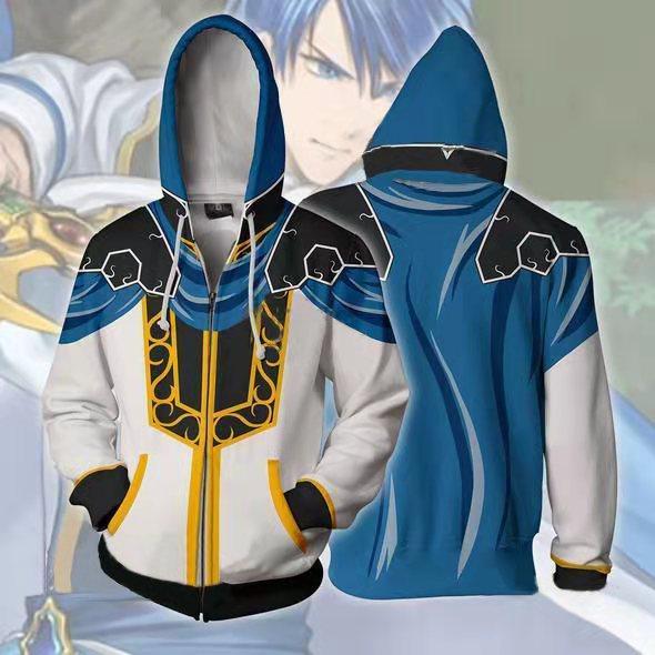 Nuevo juego fuego emblema Sudadera con capucha Robin sudaderas Cosplay traje chaqueta cremallera ropa