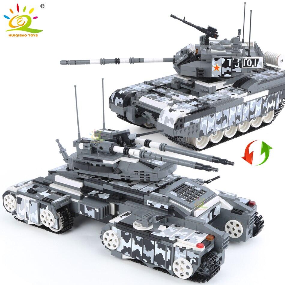 Армейские строительные блоки для автомобилей HUIQIBAO, 1640 шт., армейский Военный танк 99A, строительные блоки для автомобилей, оружие WW2, фигурки, городской городок, кирпичи, игрушки