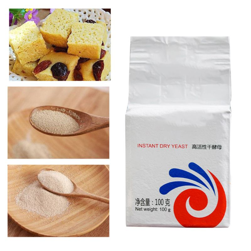 100g Highly Active Instant Dry Yeast for Bread Buns DIY Kitchen Baking Supplies