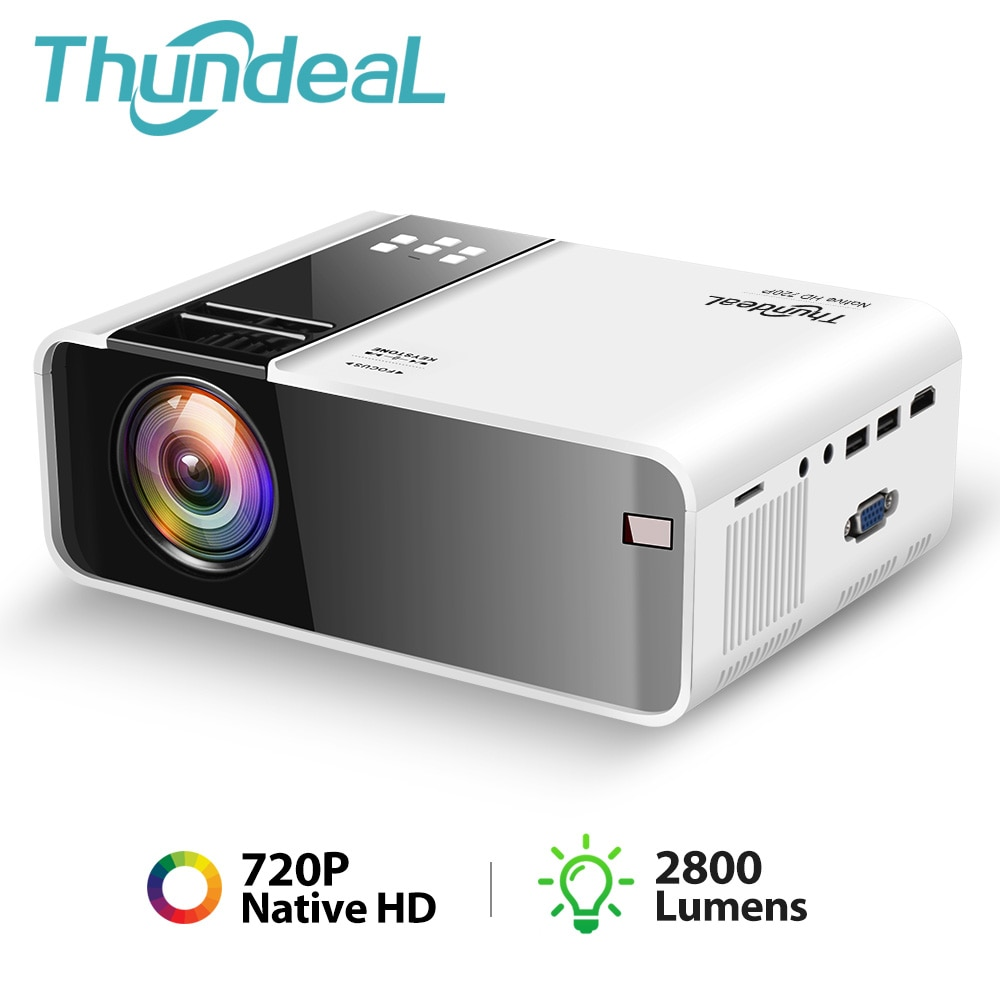 ThundeaL TD90 nativa de 720P Bluetooth WiFi Android Proyector 3D Video fiesta...