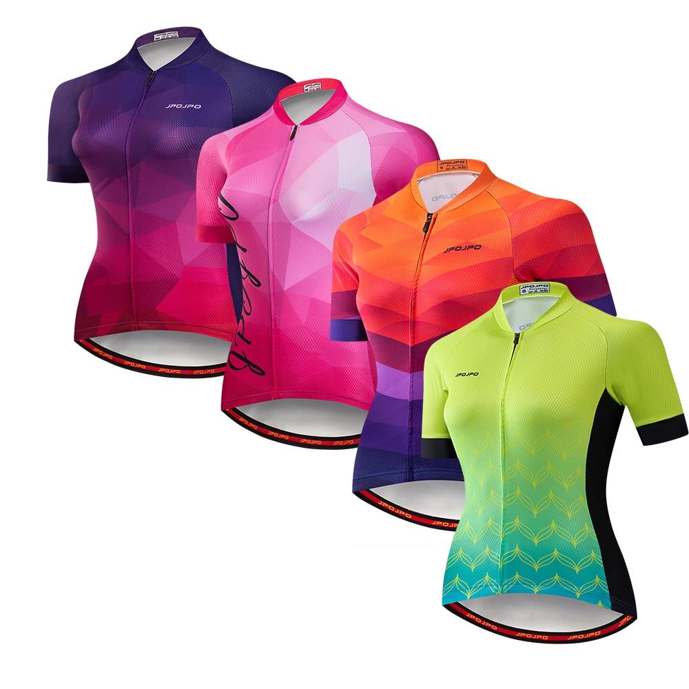 JPOJPO-Camiseta de Ciclismo para mujer, maillot para bicicleta de montaña o de...
