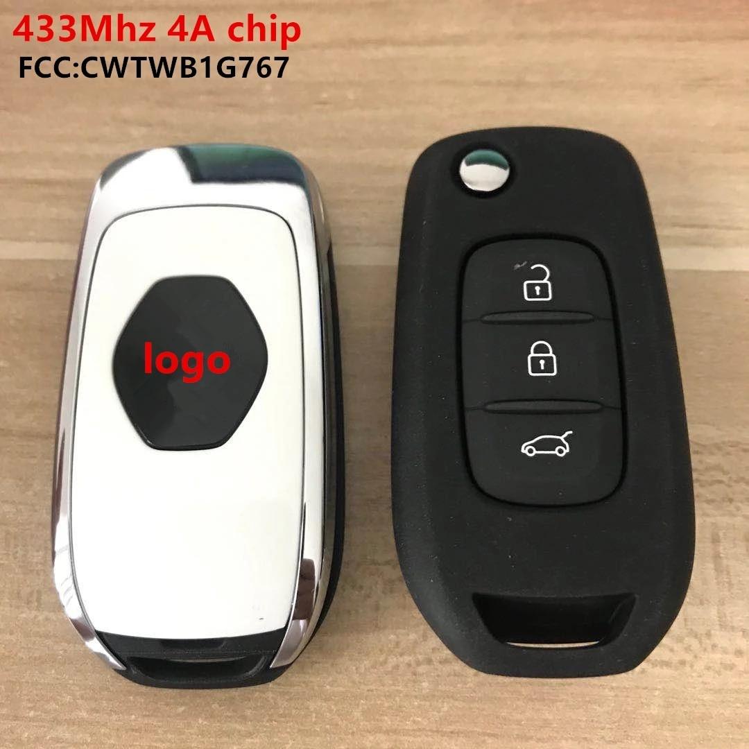 434 МГц Автомобильный складной дистанционный ключ для Renault Megane IV Scenic Clio Captur Kadjar Sandero Symbol Kwid Logan, Duster Car Smart Key