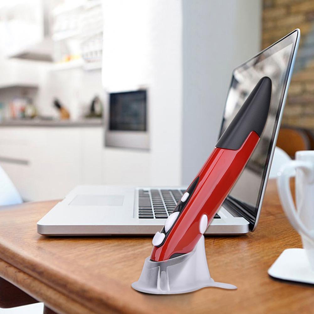 Ratón óptico USB de 2,4 GHz, ratón inalámbrico ajustable de 1600DPI, 4 teclas, ratón para ordenador, PC, decodificador inteligente