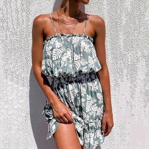 Dress Off Shoulder Loose Loose Hem Off Shoulder Beach Dress for Beach Women Dress Summer Dress Beach Dress Print Dresses 2021