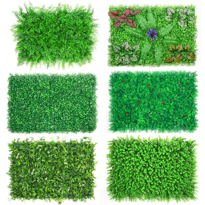 AliExpress - DIY Artificial Plant Wall 40x60cm Plastic Home Garden TV Background Shop The Mall Home Decoration Green Carpet Turf Jungle Party