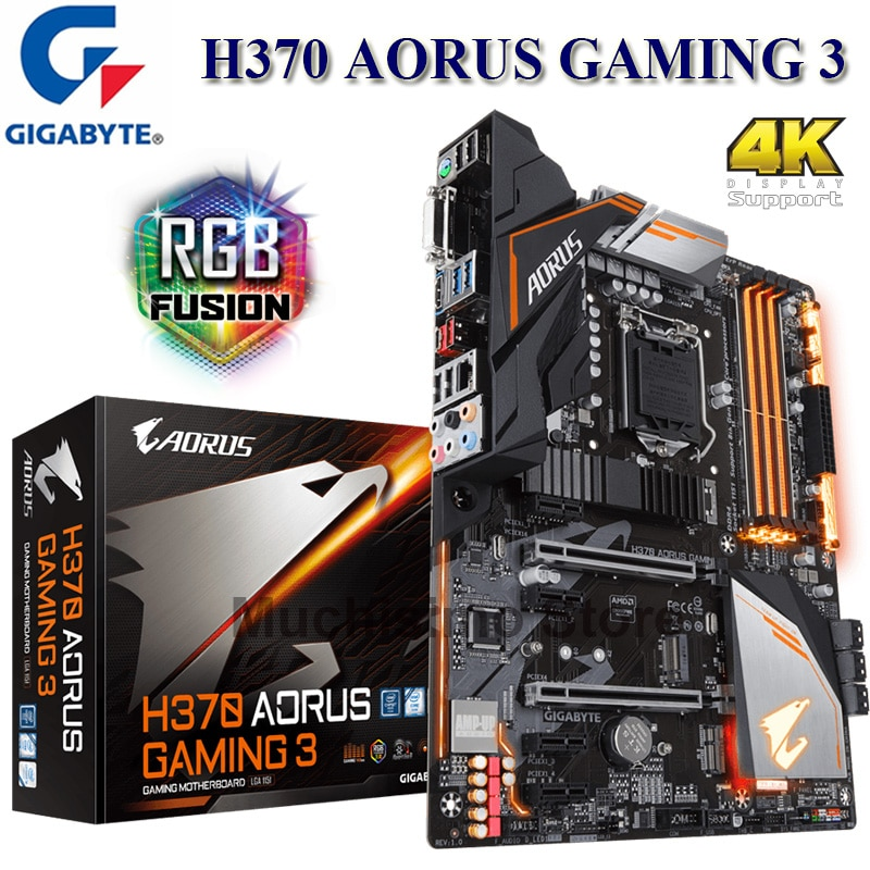 LGA 1151 Gigabyte H370 AORUS Gaming 3 Motherboard 64GB PCI-E 3,0 M.2 DDR4 Core i7/i5/i3 HDMI Desktop Placa-Mãe 1151 Neue ATX