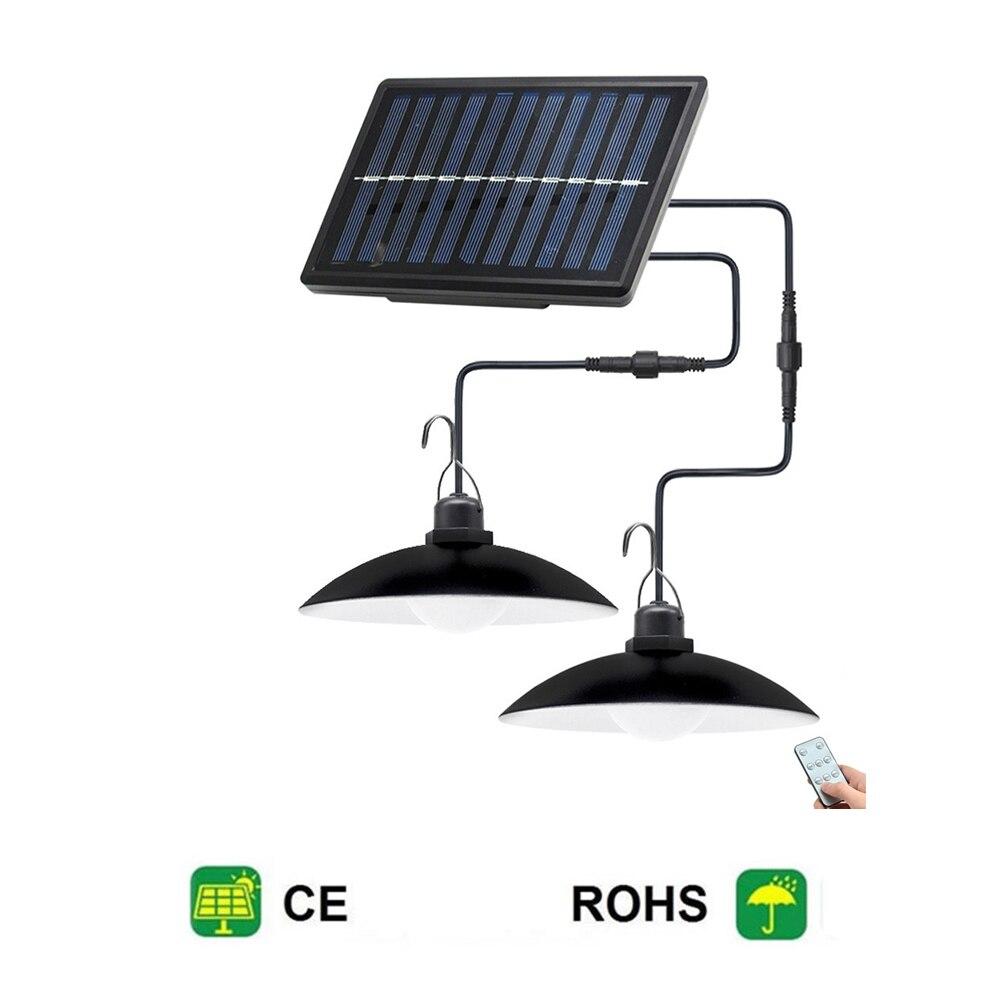 Control remoto 30 led 2 cabeza lámpara Retro Solar lámpara colgante solar...