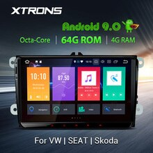 "XTRONS 9"" PX5 Android 9.0 Car Player Radio GPS for VW Volkswagen Golf Passat CC Touran Tiguan Sharan for Seat for SKODA No DVD"