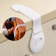 1pcs Multi-function Plastic Cabinet Locks Children Safty Lock Protection Cabinet Cupboard for Refrigerator Cabinet Door