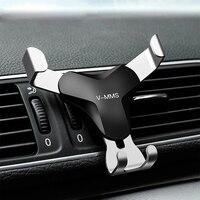 Гравитационный Автомобильный держатель для телефона в автомобиль крепление, устанавливаемое на вентиляционное отверстие в салоне автомоб...