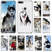 Funda de teléfono móvil para Huawei Y6 Y7 Y9 Mate 10 20 Pro Lite Nova 2i 3i 5i 2 3 4 Carcasa de perro Husky TPU