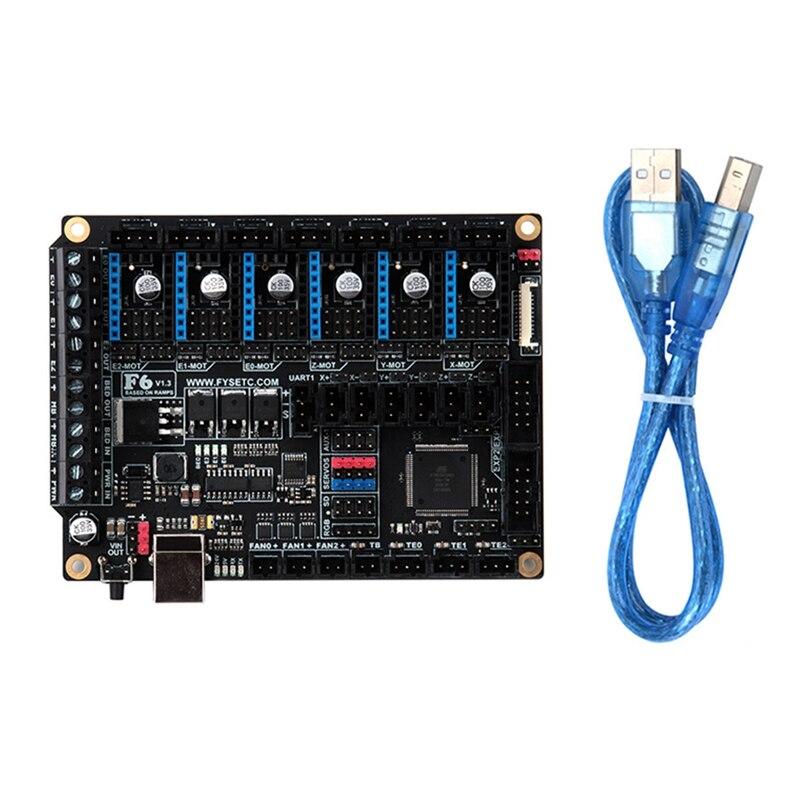 لوحة تحكم للطابعة ثلاثية الأبعاد ، S6 V1.4 ، متوافقة مع 6 برامج تشغيل ، TMC2208 UART ، ملحقات
