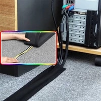 soft adjustable hook 1 meter soft adjustable hook and loop office desk wire cable cover for floortrunkdesk office supplies